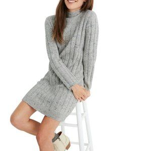 MADEWELL Donegal Rolled Mockneck Sweater Dress
